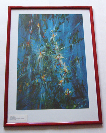 Image: framed example z02 - crystal flowers